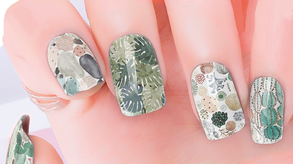 Desert Green Nail Wraps