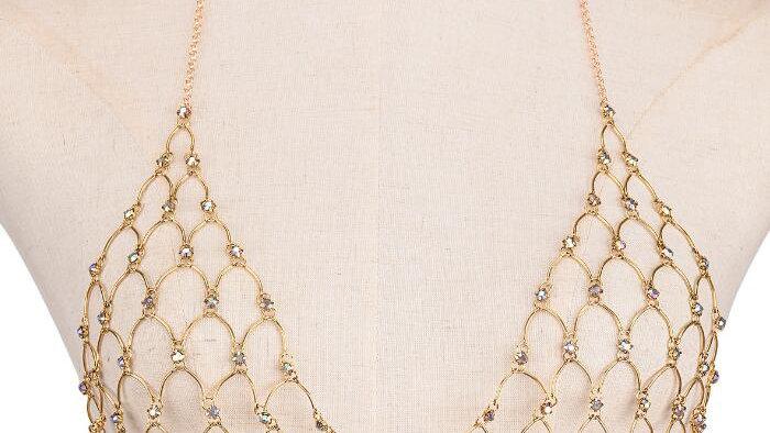rhinestone diamond bra