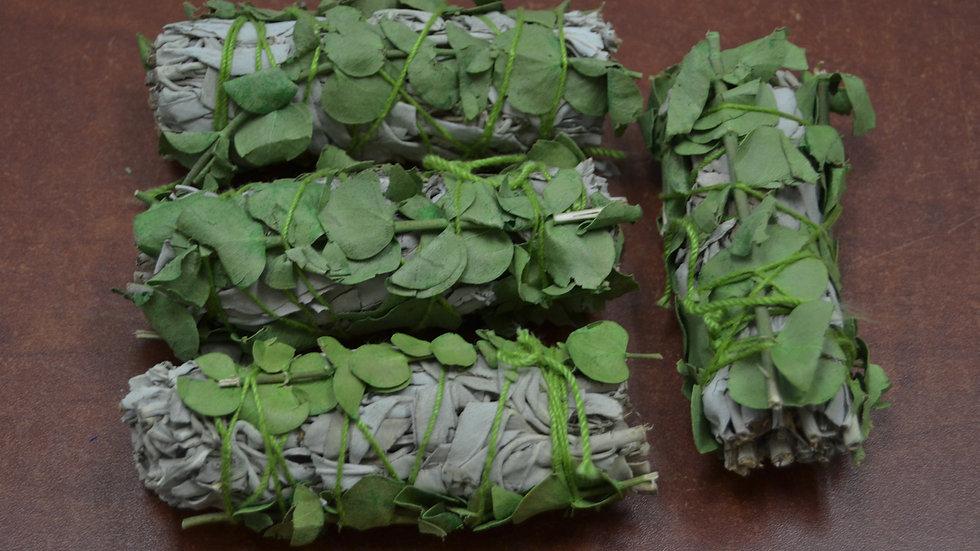 4 Pcs White Sage + Eucalyptus Bundle Smudge