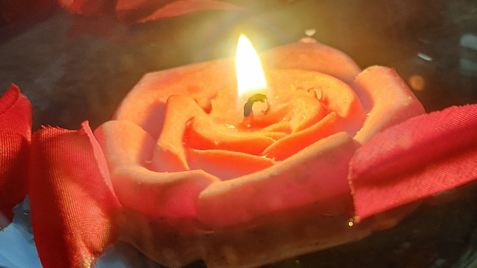 Floating Rose Candle