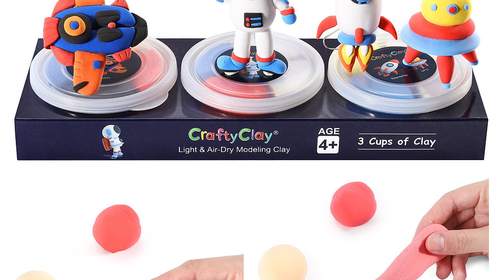 The Spacecraft | 12 Color Premium Quality Air Dry Modeling Clay Kit for Kids