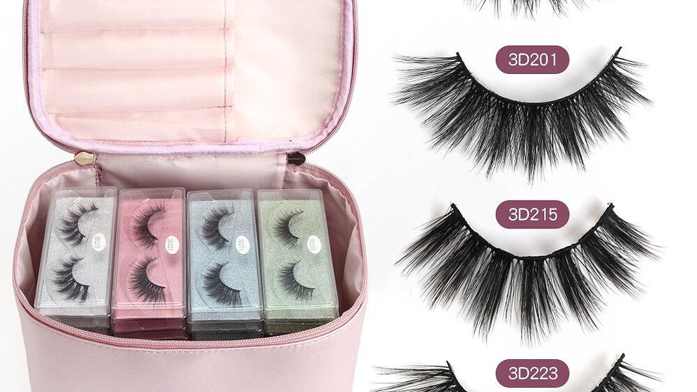 60 Pcs 3D False Eyelashes With Bag