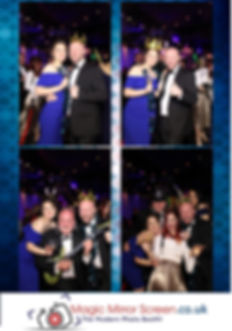 Magic mirror photo print out christmas party