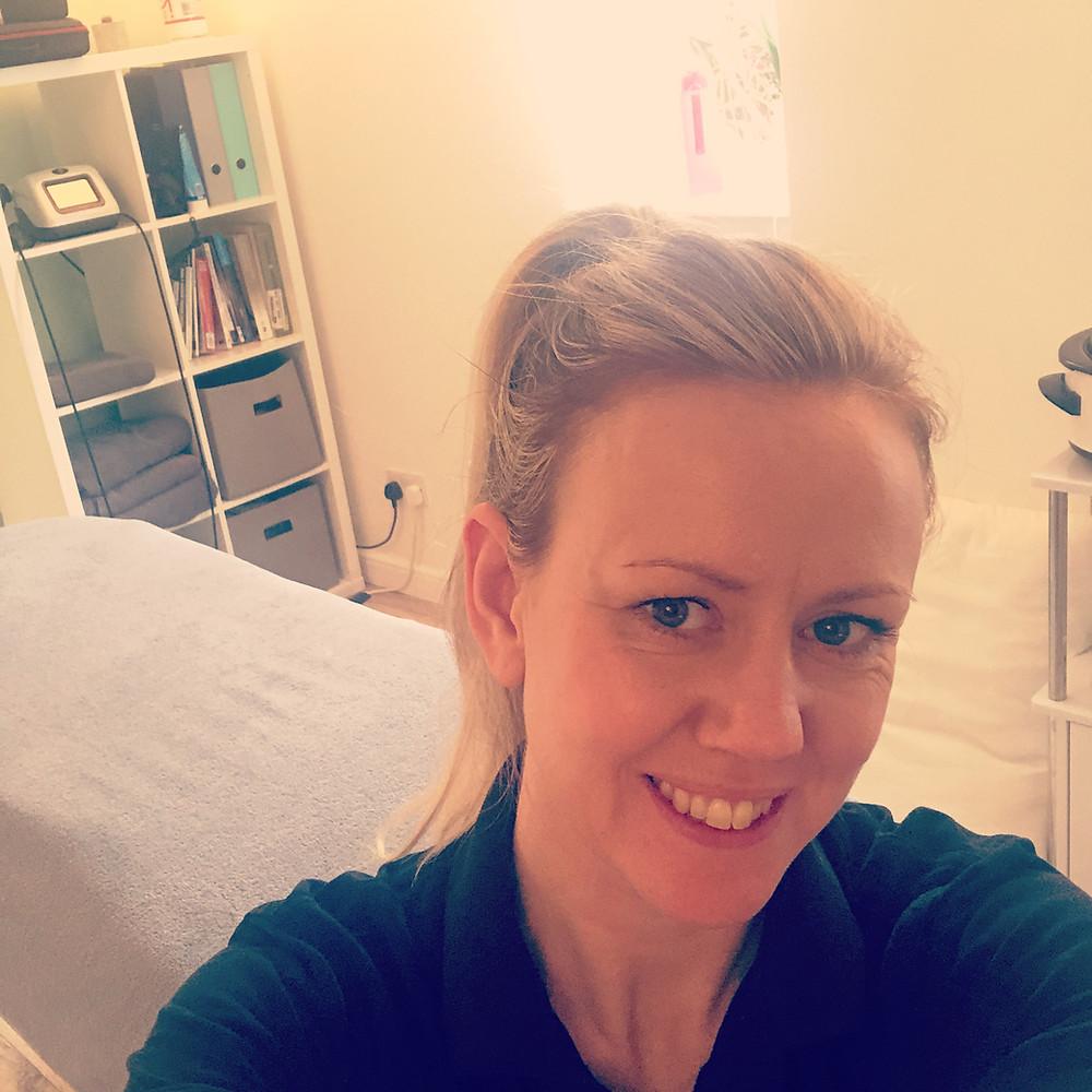 Jody Dennett, Sports Massage Therapist and Laser Therapist.