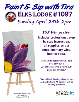 Elks Paint n Sip with Tira 4-25-21 flyer