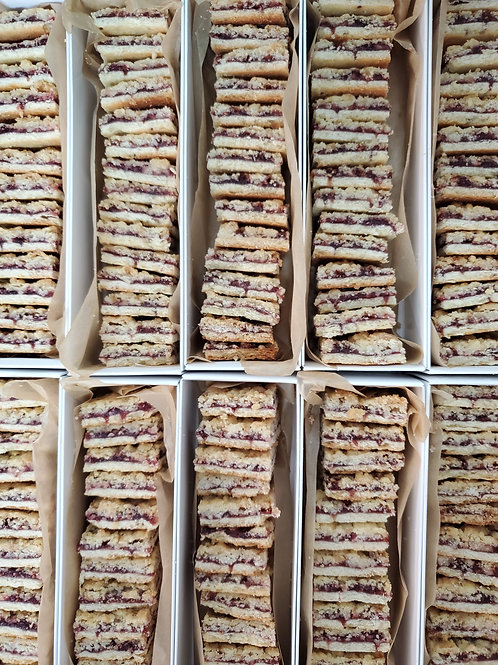 Linzer Crumble Cookie Package