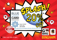 NHS, Police & Fire personnel Blue Light Card Holder discount.