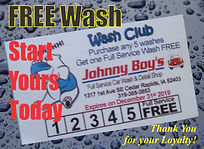 Johnny Boys Car Wash, Free Wash, Start your wash club today, Cedar Rapids, IA, Chamois Cloth, Foam, Fresh Water, Affordable- Vacuum, Wash, Hand-dry, Clean- windows, dash, jambs, Truck Car Van Auto, No Appointment for wash packages
