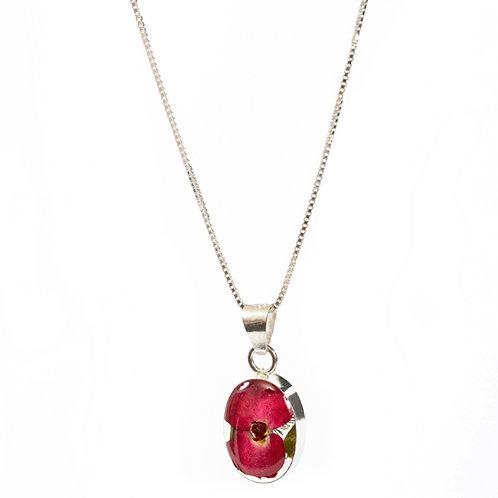 Oval Poppy Necklace - Small