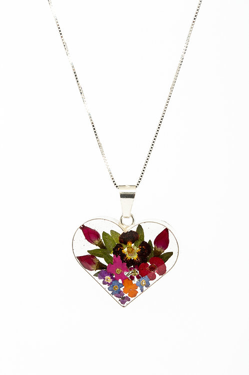 Mixed Flower Heart - Lg