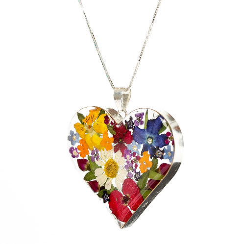 Love Heart - Mixed Flowers - Ex Lg