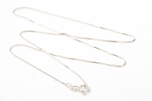 Sterling Silver 18'' Box Chain 925