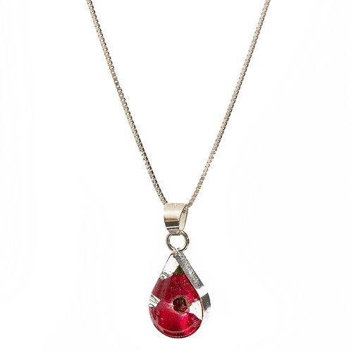 Teardrop Poppy Necklace - Small