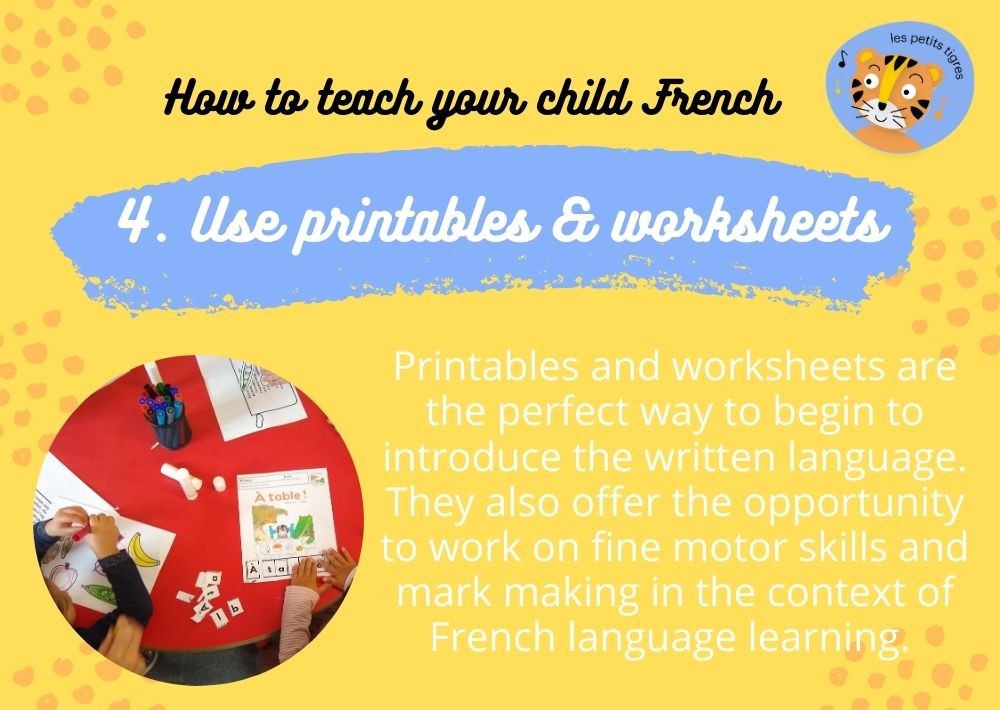 French Learning Worksheets