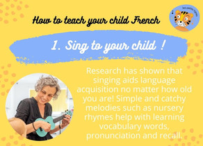1. Sing French with your child