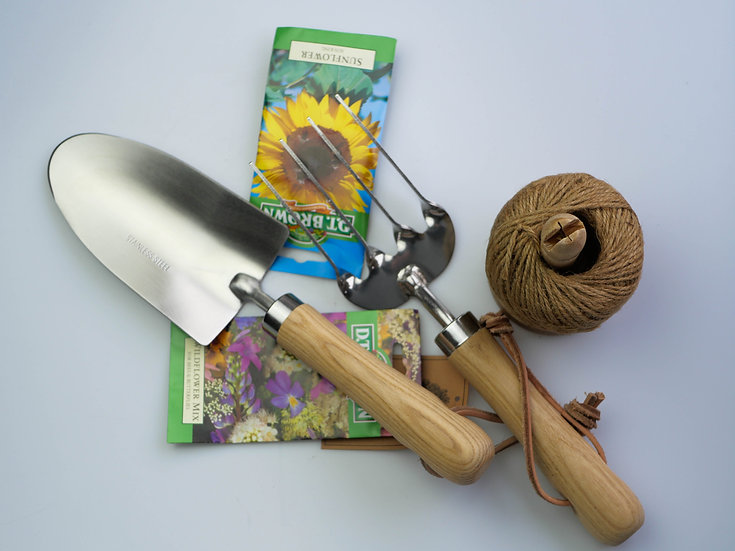 Garden tools and seeds gift set