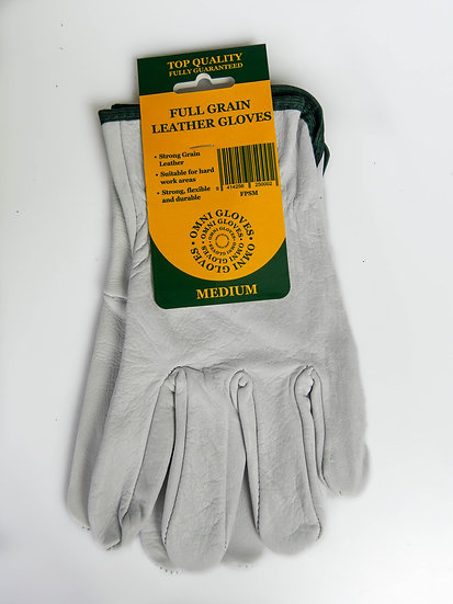 Full grain leather glove