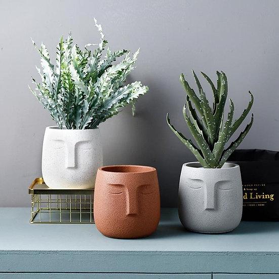 Nordic Ceramic Face Plant Pot