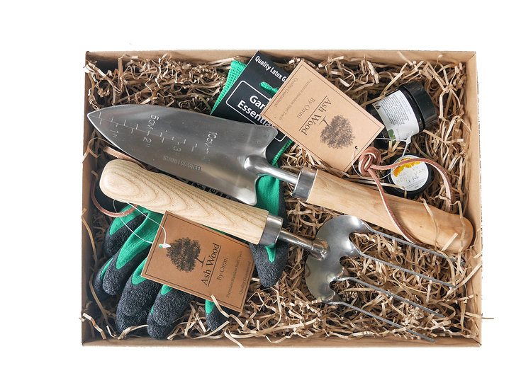 Tools and calendula gift set