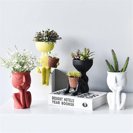 Portrait Sculpture plant pot