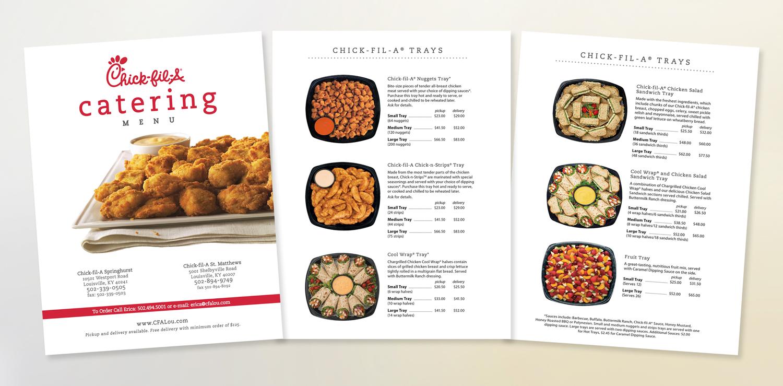 CFA – catering menu