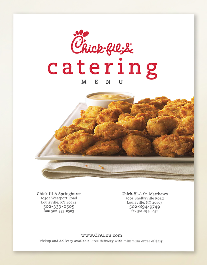CFA - catering menu