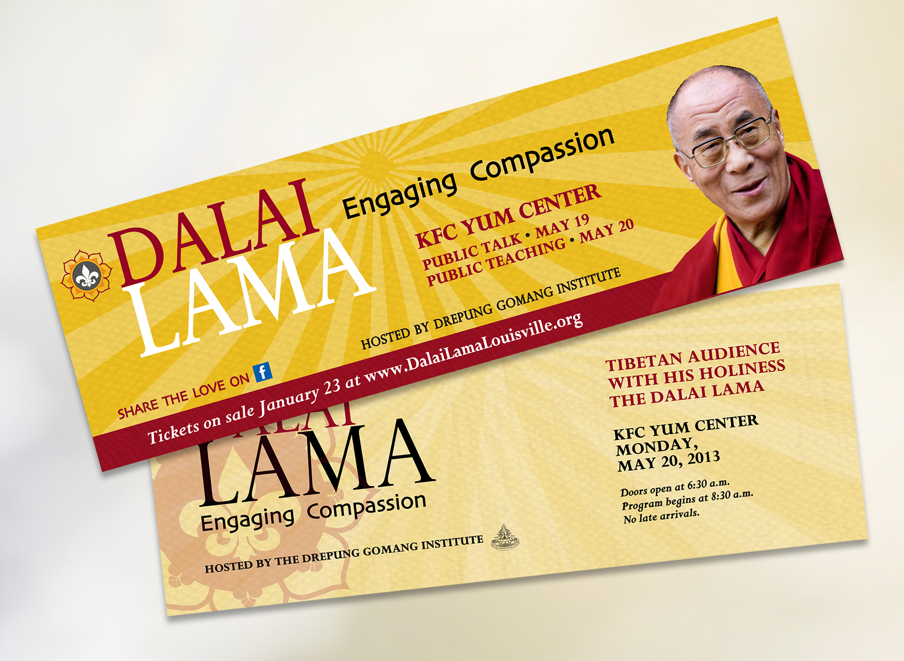 HHDL – tickets