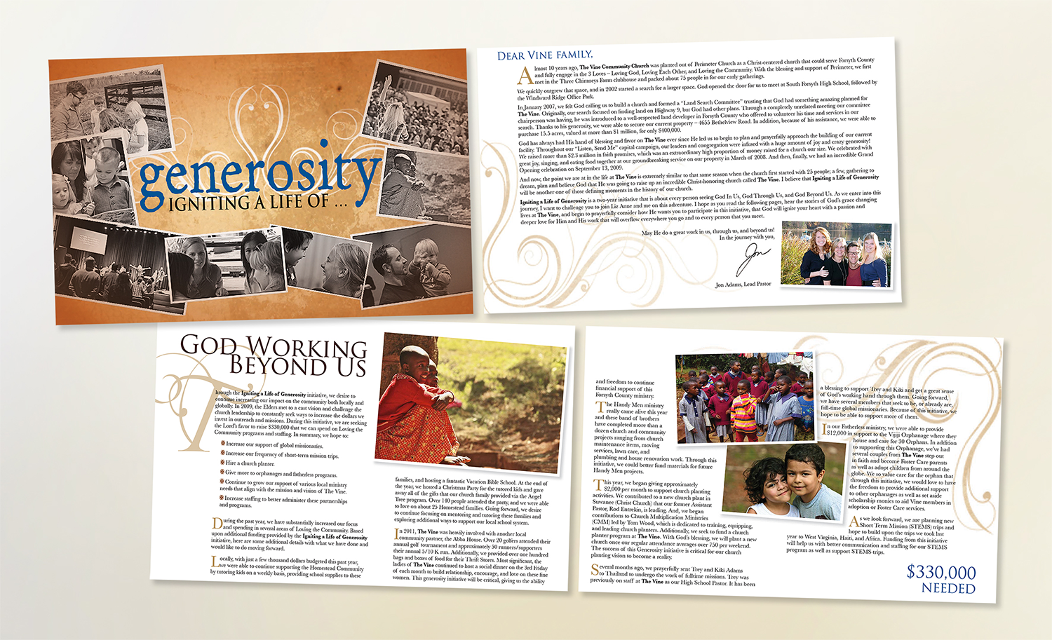The Vine – Generosity brochure