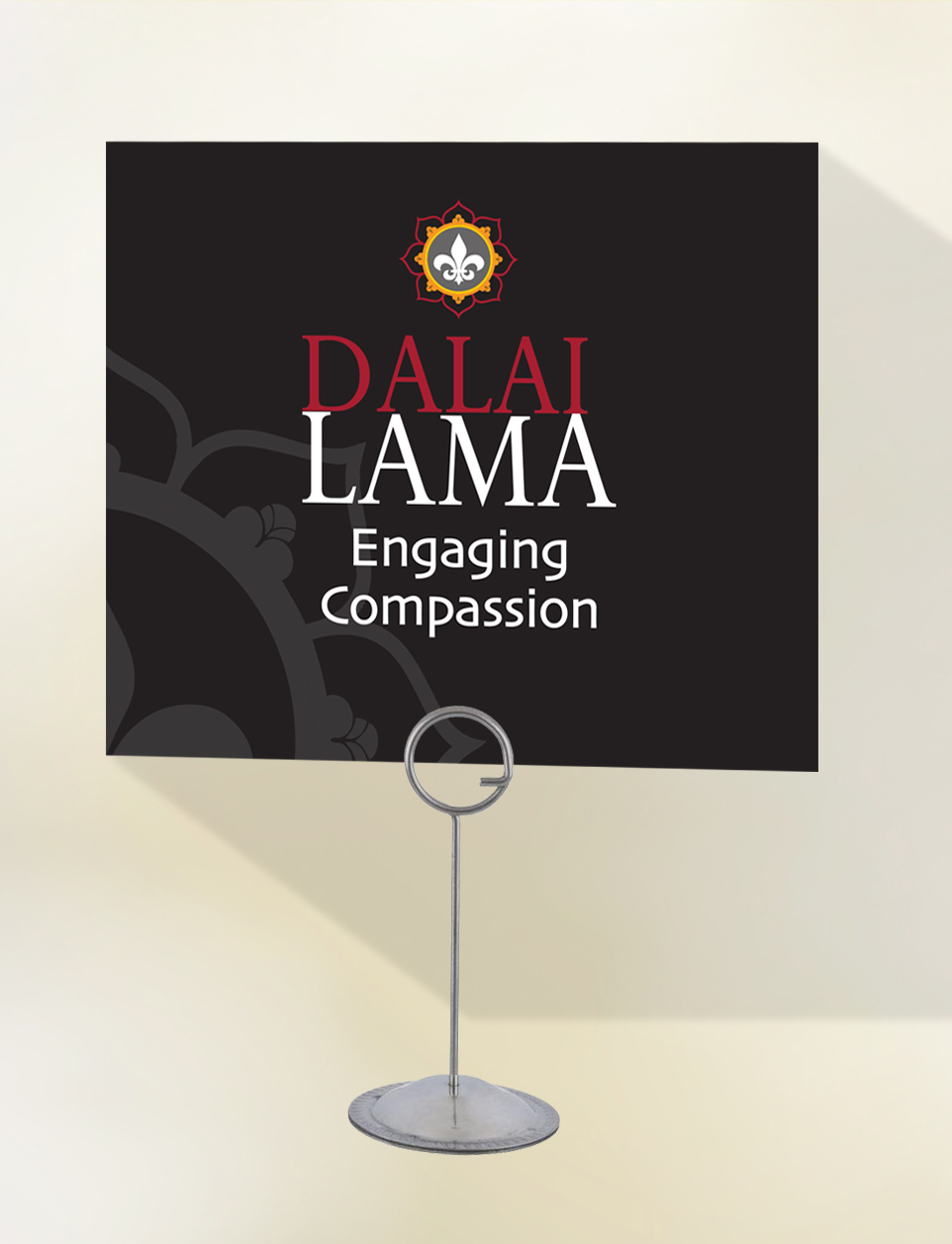 HHDL – table sign