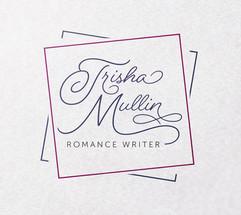 Trisha Mullin logo square on paper mocku