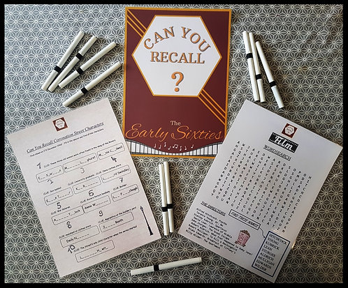 Can You Recall?-Early Sixties- Activity Pack