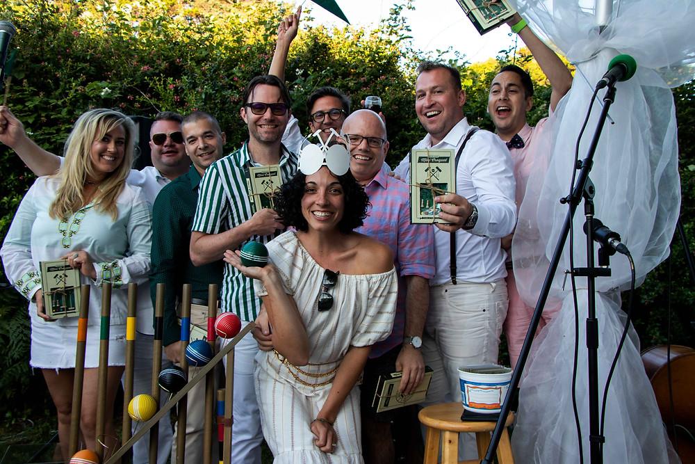 Daniel House Croquet Classic winning team cannon beach Oregon charity event; portland event design,
