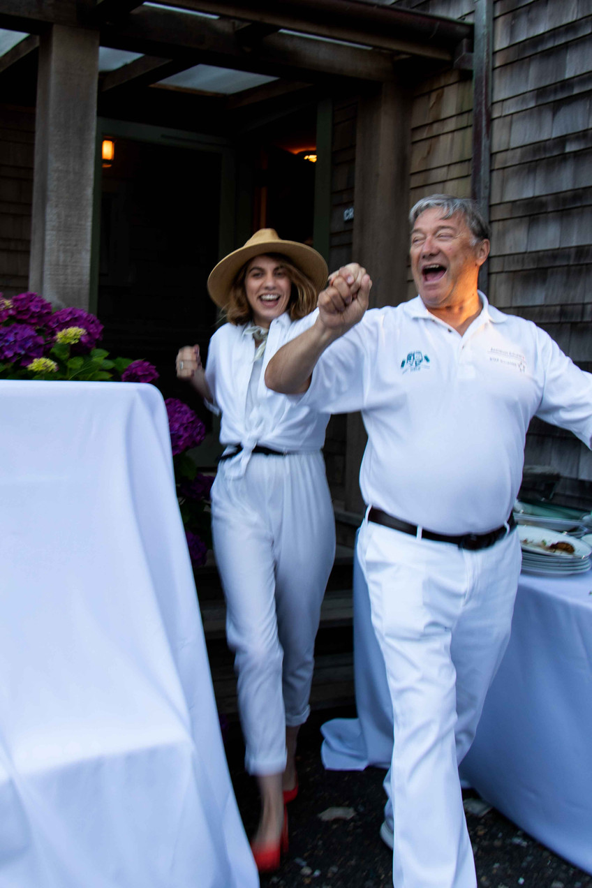 Egbert kunrath and Katie holzmann at the Daniel House croquet classic, supporting Birch Community Services