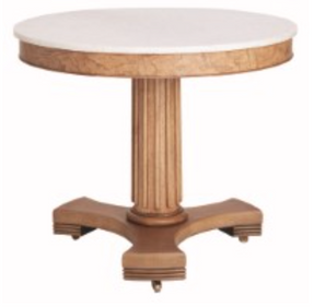 classic center table wood and marble