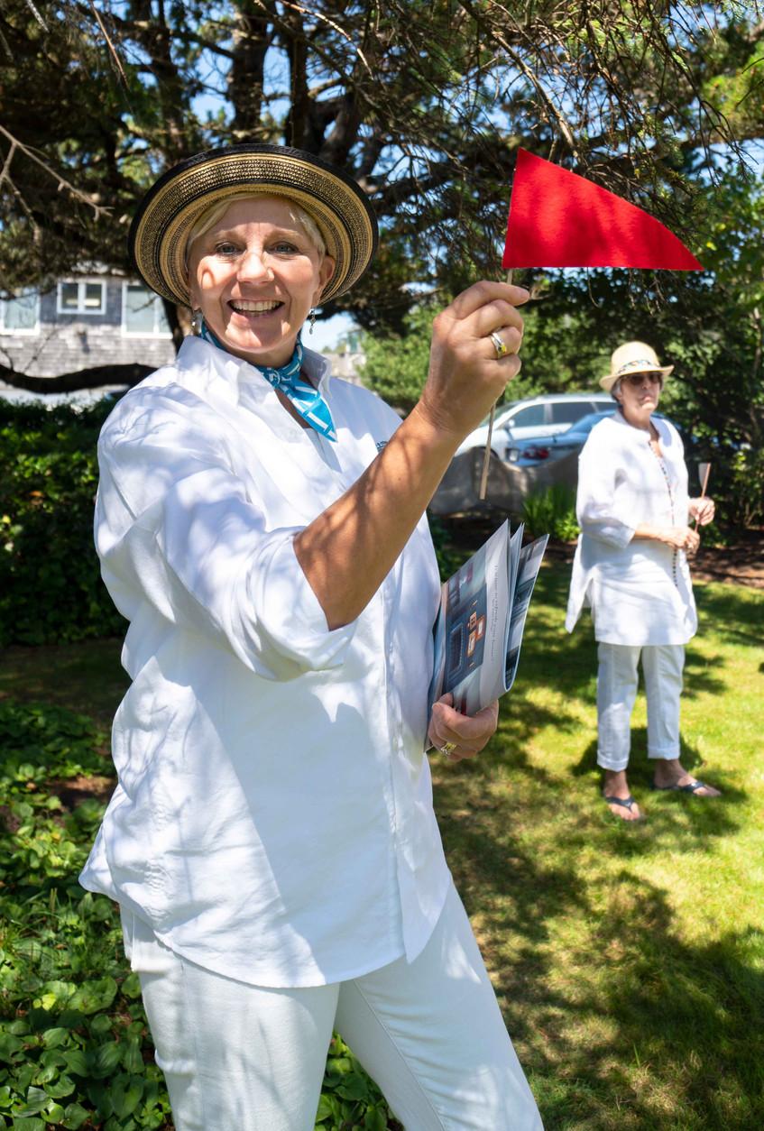Sheila Baker at the Daniel House croquet classic in cannon beach Oregon