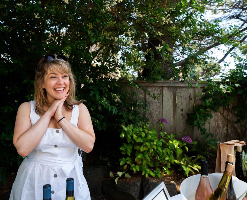 Rachel Morrison pours wine for Willamette Valley Vineyards at the Daniel House croquet classic