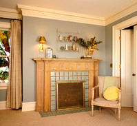 This mantle was rescued from an historic brown stone, stripped of over 30 coats of paint, and shipped to Oregon to find a new home