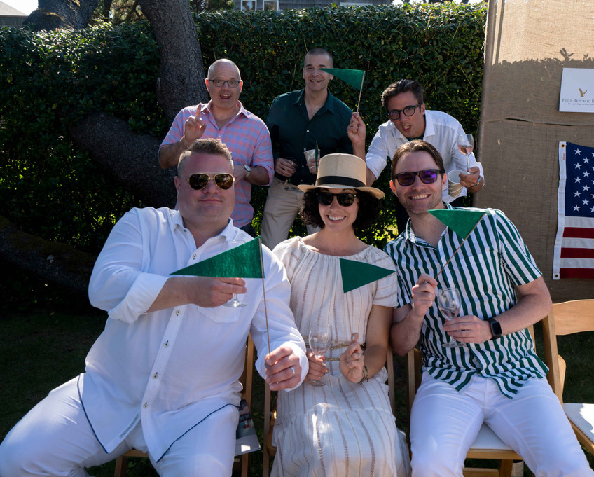 the green team win the Daniel House croquet classic; matthew Phillips; Logan mercer; jay Jennings; John Bailey; Carla McHattie; Mark Hitchcock