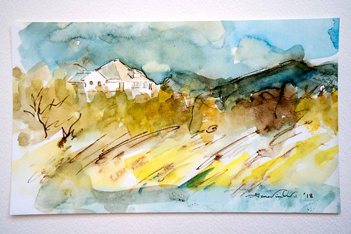 House at the Beach - Water Color Print