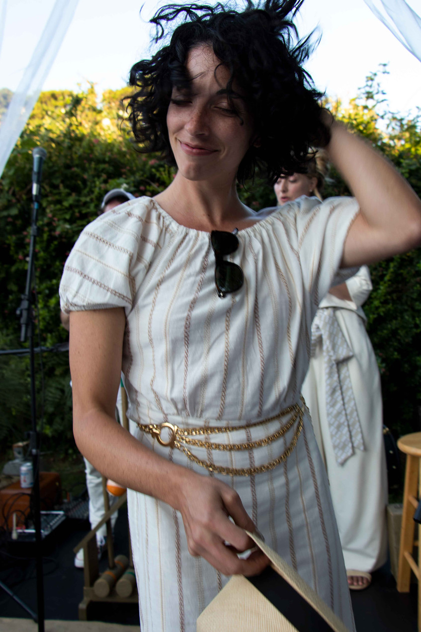 Carla McHattie wins the Daniel House croquet classic in cannon beach Oregon, wearing croquet whites