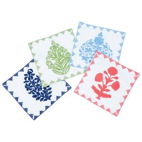 colorful embroidered cocktail napkins