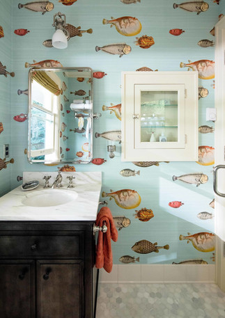 A fun a fresh bathroom can make your morning routine and little less routine.