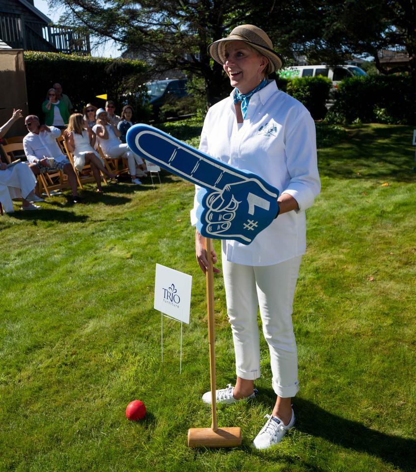 Sheila Baker Daniel House croquet classic in croquet whites