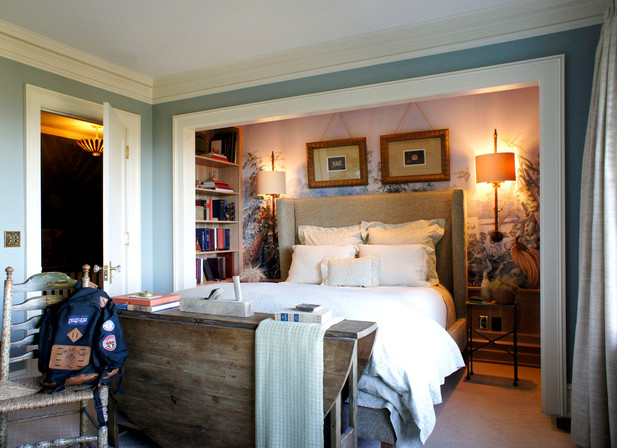 This home originally had no master bedroom. We had to tear out two closets and punch a hole in a wall to add some grandeur (and bathroom access)