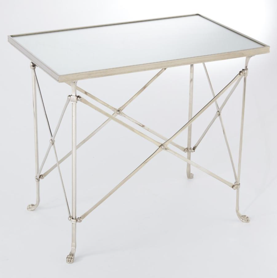 Rectangular Directoire Table Global Views end table available from Daniel House