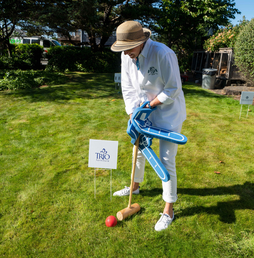 sheila baker at the Trio Custom Furniture Wicket at the Daniel House Croquet Classic