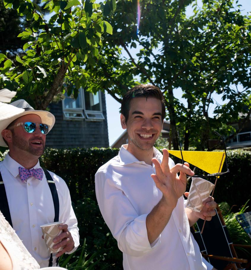 Kevin Fadden at a fun cannon beach event, the Daniel House croquet classic