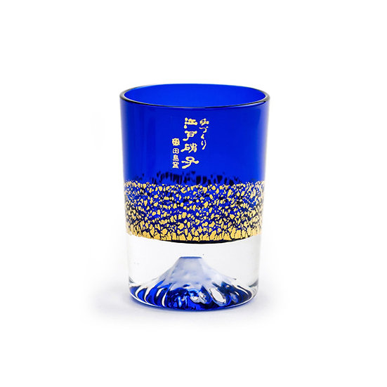 田島硝子金箔冷酒杯 - 瑠璃
