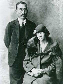 竹鶴政孝及其妻子Rita