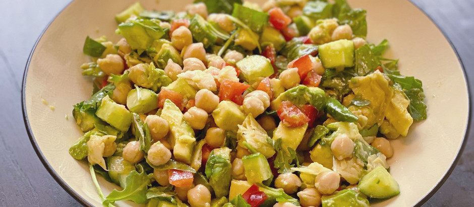 Potomac PT & Rehab Eats! Chickpea Green Salad + Ginger Dressing